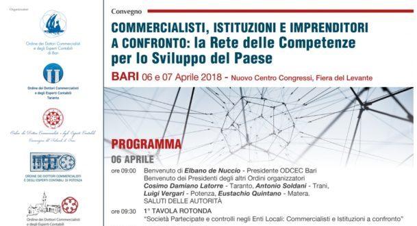 Commercialisti, Istituzioni e Imprenditori a Confronto : Convegno Bari