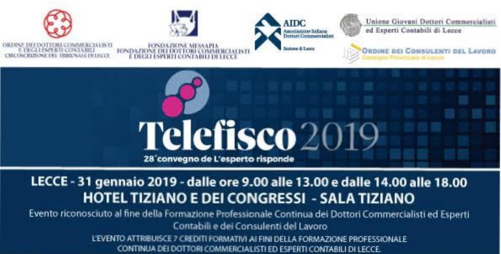 Federterziario a Telefisco 2019