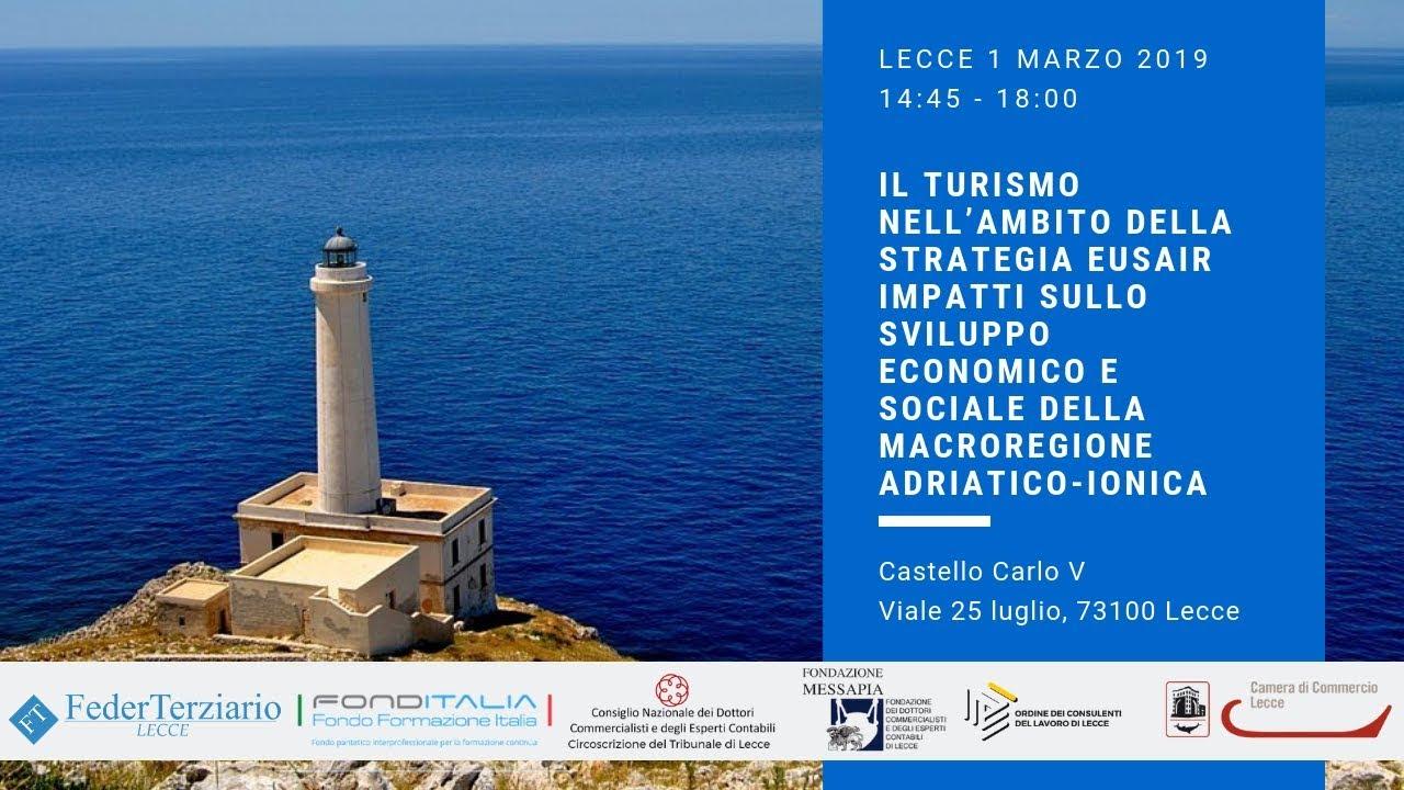 Il Turismo nell'ambito della strategia EUSAIR