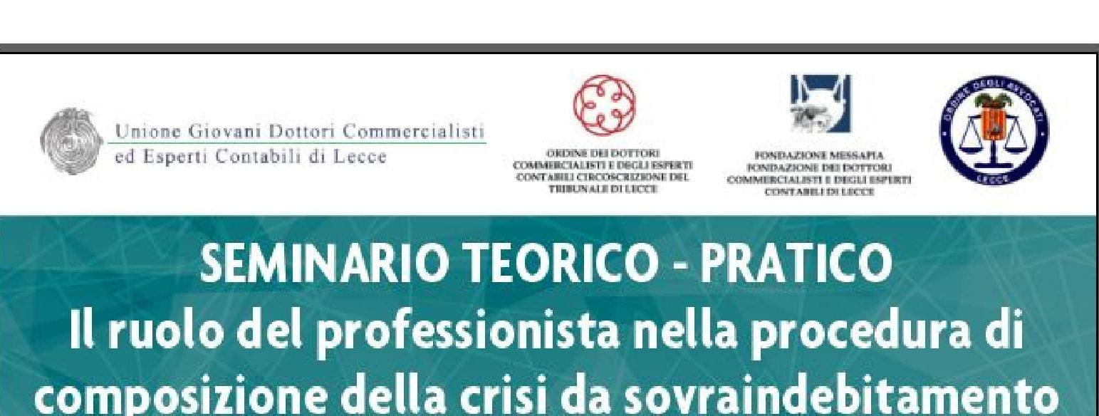 IL RUOLO DEL PROFESSIONISTA NELLA PROCEDURA DI COMPOSIZIONE DELLA CRISI DA SOVRAINDEBITAMENTO