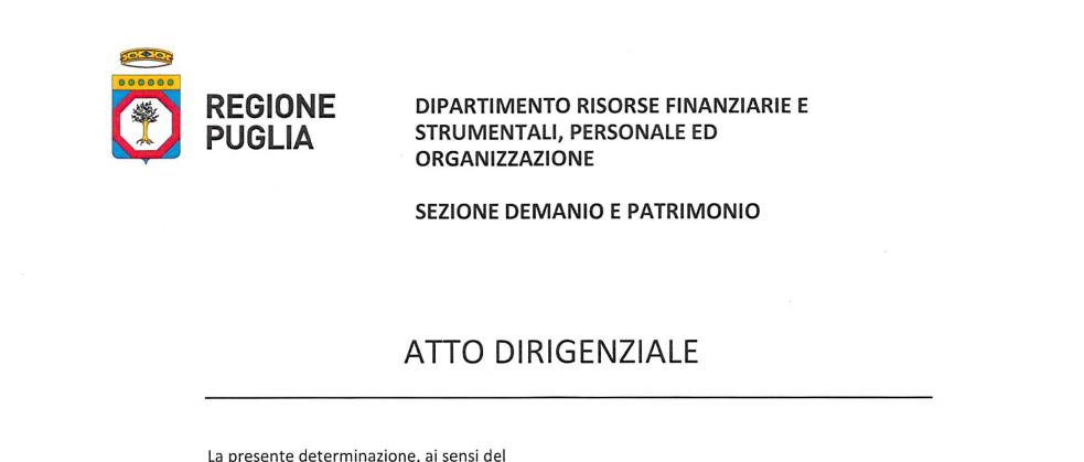 Regione Puglia – Ordinanza N°249 del 21 Maggio
